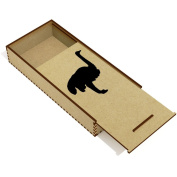 'Ostrich Silhouette' Wooden Pencil Case / Slide Top Box