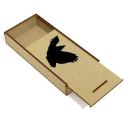 'Crow Silhouette' Wooden Pencil Case / Slide Top Box