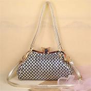 Portable messenger bag Denim Bao clip bags casual handbag, 30*12*25cm