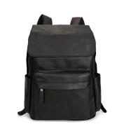 Great Strange Vintage leather men's shoulder bag/outdoor travel Bag Large capacity wearable durable backpack Black