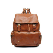 SHFANG Leather Double Shoulder Bag Handbag/Fashion Leisure backpack/oil wax leather/Computer bag Travel shopping go to work Nice present