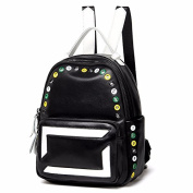The new all-match minimalist fashion leather backpack capacity,black