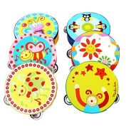 8m 1 PC*Baby Jingle Percussiat Hwith Bell Tambourine Musical Instrument Toy