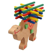 Skyoo Elephant /Camel Balance Wooden Stick Toy Parent-Child Game Wooden Puzzle Toy Kids Xmas Gift