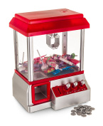 WICKED GIZMOS ® Candy Grabber Machine – Grab your Favourite Sweets with this Classic Retro Fairground Game Replica Battery Operated Toy with Realistic Arcade Controls, Carnival Music and Fake Coins