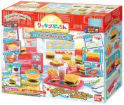 JAPAN BANDAI Cooking PUCHI Hamburger French Fries Kid Toys Kitchen Shop Set
