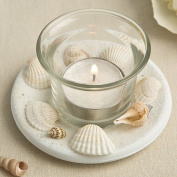 Sea Shell Themed Candle Votive With Natural Shell