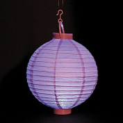 Lilac Light Up Lantern