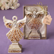 Antique Ivory Angel Statue With A Matte Gold Filigree Detailing From Solefavors
