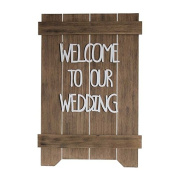 Rustic Welcome To Our Wedding Sign