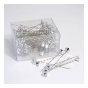 S & W Bridal B1909CLSL | Corsage Pins | Crystal Diamond | Pack of 100 | Clear