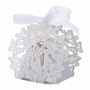 andensoner 50pcs Beauty Butterfly Candy Boxes Wedding Birthday Party Candy Boxes Wedding Decor