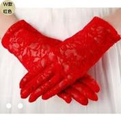 ZLYAYA gloves,Bride short wedding gloves summer wedding lace short section sunscreen thin white wedding gloves