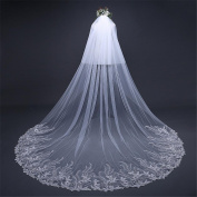 Wedding Veil 3m European And American Fashion White Long Tail With Veil Wedding Accessories Veil