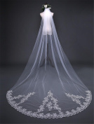 Wedding Veil 3m European Style Simple Long Trailing With Comb Wedding Dress Veil , A