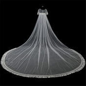 Wedding Veil 3m European-Style Large Trailing Shawl Soft Yarn Lace Lengthened Lace Bride Marriage Accessories Long Shoulder