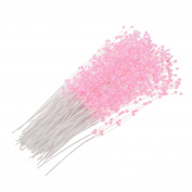 Syndecho 100pcs Pearl Stem Spray Pearl Sticks Bridal Bouquet for Wedding Party Home Table Decoration,Bride Flower Bouquet Stems