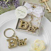 Luxurious Gold Baby Themed Key Chain From Solefavors