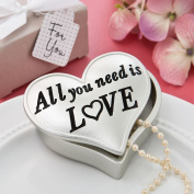 All You Need is Love Heart Shaped Box From Solefavors