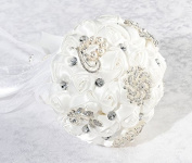 Crystal Flower Bouquet White