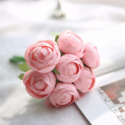 Artificial Flowers 2Pcs A Faux Flower Hand Bouquets Wedding Party Flowers Christmas Decoration Artificial Flower, Pink