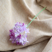 Artificial Flowers 10Pcs Emulation Flower Hydrangea Flowers And Bouquets Wedding Party Christmas Decorations, Shallow Purple