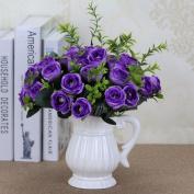 Artificial Flowers 5Pcs Emulation Flowers Flower Bouquets Wedding Party Christmas Decorations, Purple