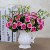 Artificial Flowers 5Pcs Emulation Flowers Flower Bouquets Wedding Party Christmas Decorations, Pink