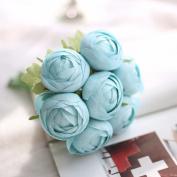 Artificial Flowers 2Pcs A Faux Flower Hand Bouquets Wedding Party Flowers Christmas Decoration Artificial Flower, Blue