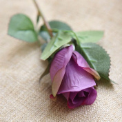 Artificial Flowers 10Pcs Silk Emulation Flower Flowers Roses Wedding Party Christmas Decoration Valentine'S Day Gifts, Dark Purple