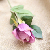 Artificial Flowers 10Pcs Silk Emulation Flower Flowers Roses Wedding Party Christmas Decoration Valentine'S Day Gifts, Light Purple