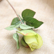 Artificial Flowers 10Pcs Silk Emulation Flower Flowers Roses Wedding Party Christmas Decoration Valentine'S Day Gifts, Green