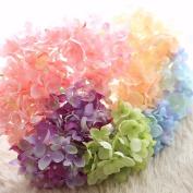Artificial Flowers 10Pcs Emulation Flower Hydrangea Flowers And Bouquets Wedding Party Christmas Decoration, Colour Mixing