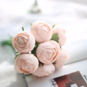 Artificial Flowers 2Pcs A Faux Flower Hand Bouquets Wedding Party Flowers Christmas Decoration Artificial Flower, Light Pink