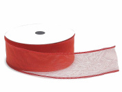 Tape Tubular Portaconfetti in Organza Red