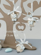 Bow Decoration Party Favours Child Resin Blue with Ribbon and Bell