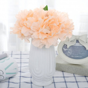 5PCS Premium Artificial Peach Peony Flower for Wedding Bridesmaid Flower Girl Bouquet Garden Home Craft Decoration