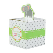 vLoveLife 50pcs Elephant Animals Candy Favour Boxes Birthday Party Baby Shower Favour Paper Gifts Box