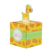 vLoveLife 12pcs Giraffe Animal Patterns Candy Favour Boxes Birthday Party Baby Shower Favour Paper Gift Box