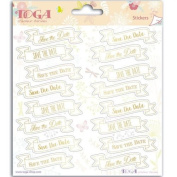 Stickers Wedding Save the date - 15 x 15 cm