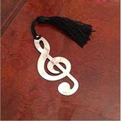 CGdiaoju Novelty Creative Lovely Music Note Alloy Bookmark-Sliver