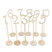 Nacpy Wedding Holder Card Holder Table Number Holders with Holder Base Wood Colour 1-10