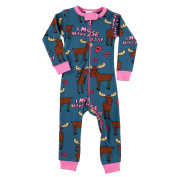LazyOne Girls I Moose Have A Kiss Infant Sleepsuit
