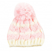 Newborn Kids Boys Girls Cute & Fashionable Winter Warm Beanie Pom Pom Bobble Hats - Pink