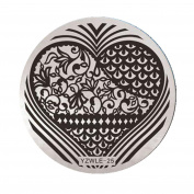 NXDWJ YZWLE Metal Plate Template for Stamping Nail Patterns Decor Nail Art, Vol.5