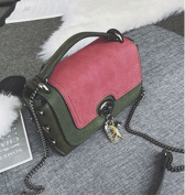Female Bag Messenger Bag Small Package Female All Match Single Shoulder Bag Small Square Bag , red