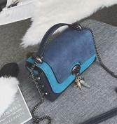 Female Bag Messenger Bag Small Package Female All Match Single Shoulder Bag Small Square Bag , blue