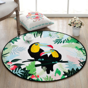 Good thing carpet Round Mat Animal Cartoon Carpet, Children's Bedroom Room Round Rugs Home Computer Chairs Floor Mat