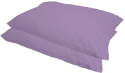 BEDDING WORLD® Lilac 50:50 Poly Cotton Plain Dyed Pillow Case Pair