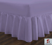 BEDDING WORLD® Lilac 50:50 Poly Cotton Plain Dyed Fitted Valance Sheet-Double
